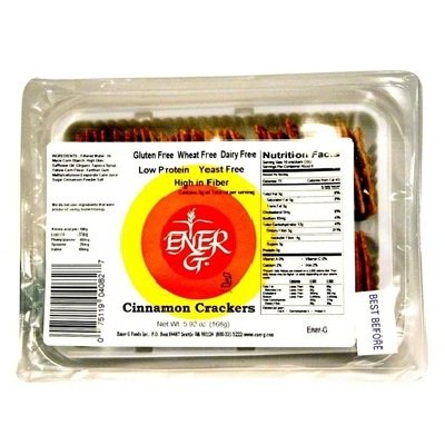 Ener-G Foods Cinnamon Crackers 6X Each 5.92Oz front-107417