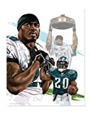 Philadelphia Eagles' Brian Dawkins Giclee' by David E. Wilkinson 11 x 14 at Amazon.com