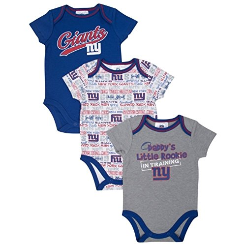 Gerber New York Giants Infant 3-Piece Bodysuits Creeper (6-12 Months) front-253518