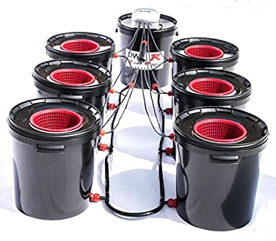 6 Pot DWC R Root Rapid Hydroponic Deep Water Culture System