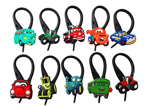AVIRGO 10 pcs Soft Zipper Pull Charms for Backpack Bag Pendant Jacket Set # 25-3