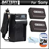 51iR93C7s%2BL. SL160  Top 10 Camera Batteries & Chargers for February 20th 2012   Featuring : #10: 2 Pack Battery And Charger Kit For Sony Cyber Shot DSC HX100V Digital Camera Includes 2 Extended (1000mAh) Replacement NP FH50 Batteries + Ac/Dc Rapid Travel Charger + LCD Screen Protectors + MicroFiber Cleaning Cloth