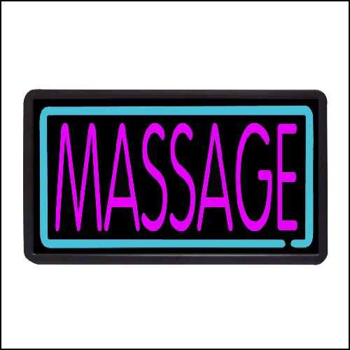 Massage Backlit Illuminated Electric Window Sign