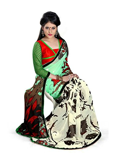 Yashoda Textile Multi Color Chiffon Printed And Border Work Sarees With Un-Stitched Blouse Piece (Y.S_687_Multi)