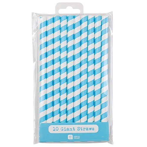 Talking Tables Mix and Match Pailles en Papier Taille Jumbo Lot de 10 Bleu
