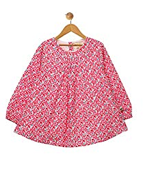 Budding Bees Infant Girls Pink Printed Dress