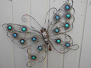 Garden Butterfly & Garden Dragonfly Matching Garden Wall Art - PAIR
