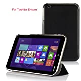 VSTN? Toshiba Encore WT8 (Windows 8.1) ultra-thin Smart Cover Case, Only fit Toshiba Encore WT8 windows 8.1 tablet (For Toshiba Encore WT8, Black)