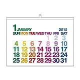 エトランジェ 2015年壁掛けカレンダー CLC-A2-01 日曜始まり A2 カラーグラデーション