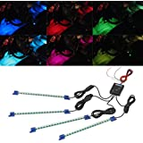 4pc. Multi-Color 7 Color LED Interior Underdash Lighting Kit