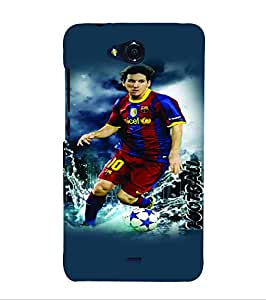 PrintVisa Sports Football 3D Hard Polycarbonate Designer Back Case Cover for Micromax Canvas Play Q355