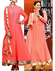 Kalki Fashion Peach Anarkali Suit Featuring With Embellished Placket In Pearl And Zardosi Only On Kalki