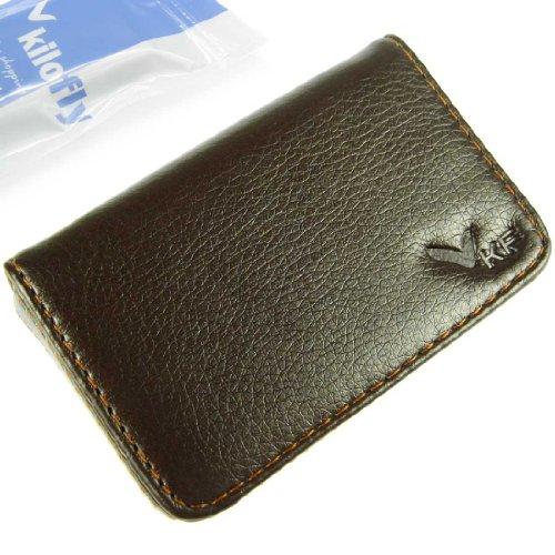 kilofly-business-card-holder-flip-style-brown