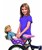 """Doll Bicycle Seat - """"Ride Along Dolly"""" Bike Seat (Purple) with Decorate Yourself Decals (Fits American Girl and Standard Sized Dolls and Stuffed Animals) - Purple"""