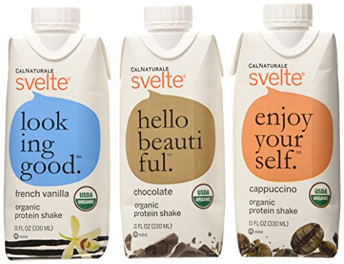 CalNaturale Svelte Organic Protein Shake, Variety Pack, 11 Ounce (Pack of 12) (Bread Lamp compare prices)