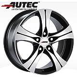 Alufelge Autec ETHOS VW Golf VII Variant Verbundlenkerhinterachse AUV 8.0 x 18 Schwarz poliert