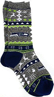 For Bare Feet NFL Ugly Christmas Holiday Socks