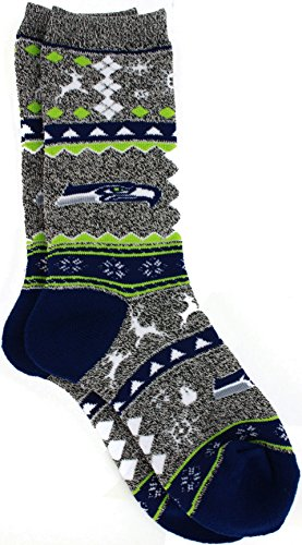 For-Bare-Feet-Ugly-Christmas-Holiday-Socks-Seattle-Seahawks