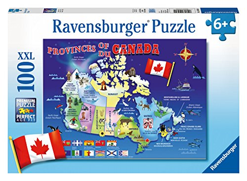 Ravensburger Map of Canada Puzzle (100 Piece) - 1