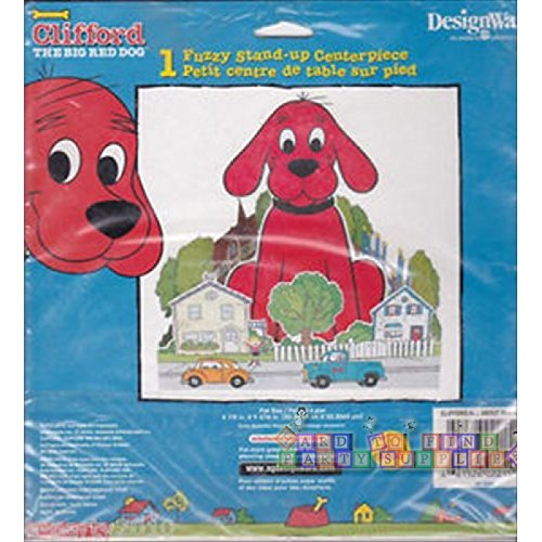 Clifford the Big Red Dog 1 Fuzzy Stand-up Centerpiece (Clifford Party Supplies compare prices)