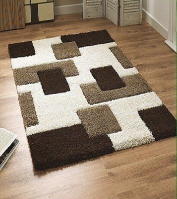 Feel Home Carpet -3*5 (Coffee,Beige:White)
