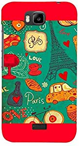 PRINTVISA Love Paris Case Cover for Huawei Honor Bee