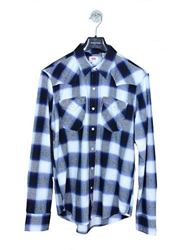 Levi's Uomo Camicia Stile Western Taglia 4 Blu