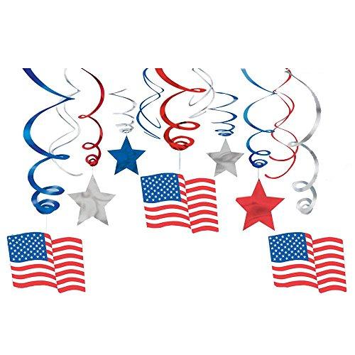 Patriotic Mega Value Pack Swirl Decorations (Each)