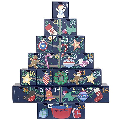 Jojo Maman Bebe Christmas Tree Advent Chest, Multi - 1