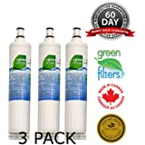 WQA Cetrtified -Swift Green Filters- SGF-W80 3 Pack Replacement for KitchenAid 4396508 Refrigerator Water Filter