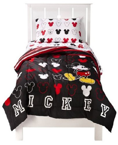 Disney mickey mouse twin bedding comforter sheetset compleet 5 piece
