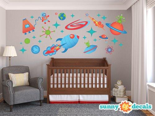 Boys Bedroom Space Theme