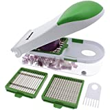 Freshware KT-402 3-in-1 Onion, Vegetable, Fruit, and Cheese Chopper, Dark Green