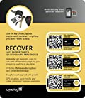 Dynotag® Web/GPS enabled QR Smart Mini Fashion Tags - 3 Identical Tags for Gear (Bumblebee)