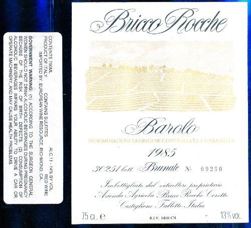 Barolo Brunate Ceretto 1985 Ceretto Brunate Barolo