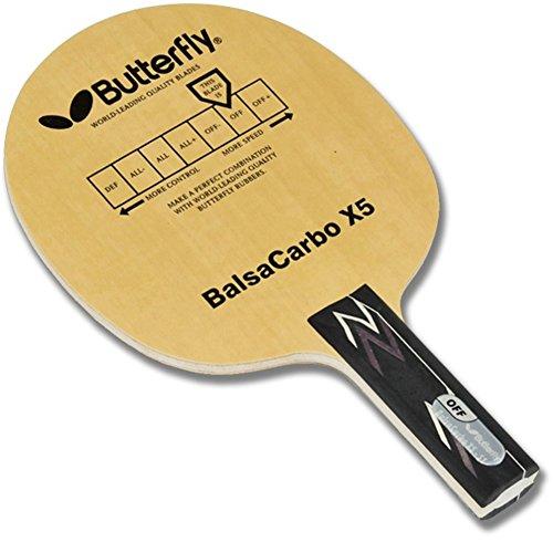 butterfly-balsa-carbo-racchetta-da-ping-pong-x5-blade-ping-lama-balsacarbo-agitare-a-mano-con-racche