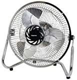 Impress 9 Inch Chrome High Velocity 3 Speeds Floor Fan IM-709V