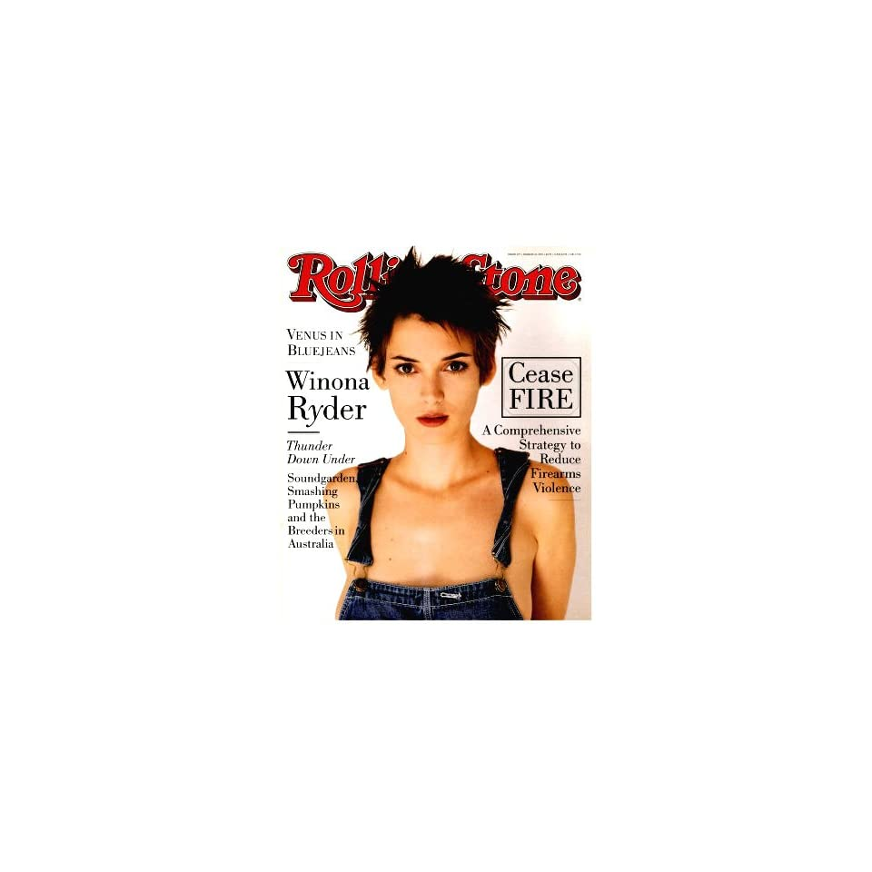 Rolling Stone Magazine March 10, 1994 Issue No.677 Winona Ryder Cover