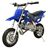 49cc 50cc 2-Stroke Gas Motorized Mini Dirt Pit Bike (Blue)