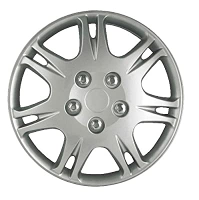 CCI IWCB8813-15S 15 Inch Clip On Silver Finish Hubcaps - Pack of 4