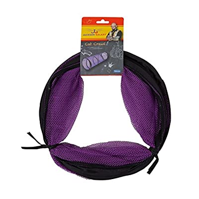 Petmate Jackson Galaxy Cat Crawl Mesh Tunnel, Purple/Blue