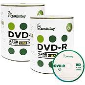 Smart Buy 200 Pack DVD-R 4.7gb 16x Logo Blank Data Video Movie Recordable Disc 200 Disc 200pk