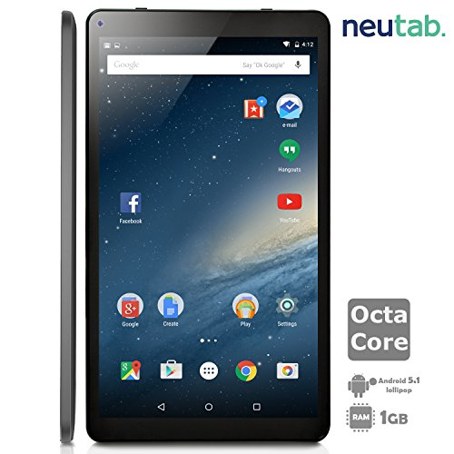 NeuTab-101-Inch-Octa-Core-Android-51-Lollipop-Tablet-PC-1GB-RAM-16GB-ROM-Bluetooth-40-Dual-Camera-Mini-HDMI-output-1-Year-US-Warranty-FCC-Certified