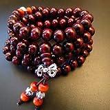 8mm*108 Buddha Red Ebony Wood Prayer Beads Tibet Buddhist Prayer Mala
