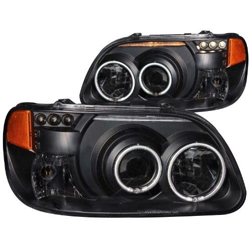 Sold in Pairs Anzo USA 121232 Lexus ES330 Black Clear Projector With Halos Headlight Assembly