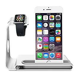 Vtin Apple Watch Stand, Aluminum Alloy Apple Watch Stand for Apple Watch(38mm & 42mm), iPhone 6s & 6s Plus