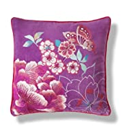 Geisha Velvet Embroidery Cushion [T47-8875-S]