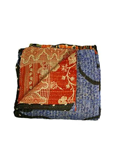 bambeco Vintage Kantha Quilt, Multi