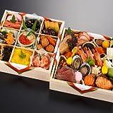 京都の料亭 濱登久 和二段重 全37品 盛り付け済み 冷蔵 生おせち お届け日:12月31日