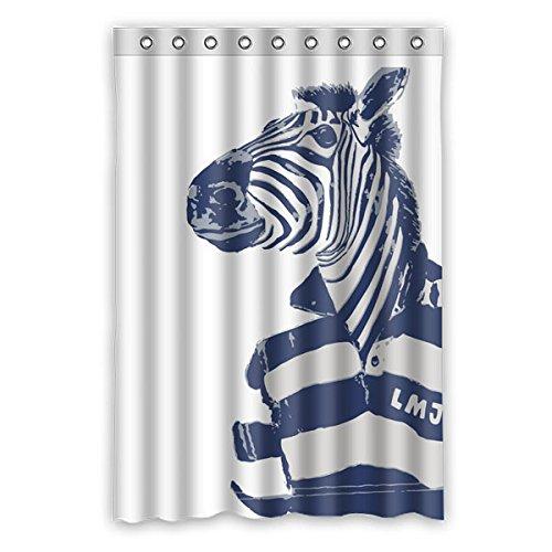 """Stile minimalista Avantgarde elementi The Zebra indossare camicia di POLO il colore di sfondo è bianco disegno Tende doccia 100% Poliestere tessuti Impermeabile bagno tende 120 cm x183 cm (48 """"x72"""")"""